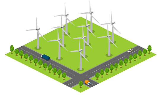 Area - Wind Turbines