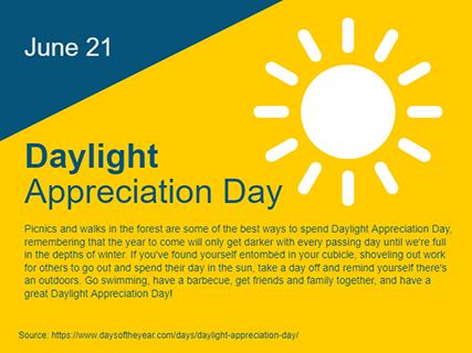 Daylight Appreciation Day