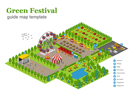 Green Festival Guide Map