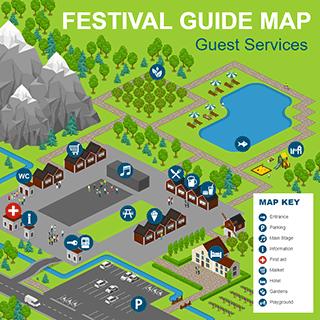 Festival Guide Map