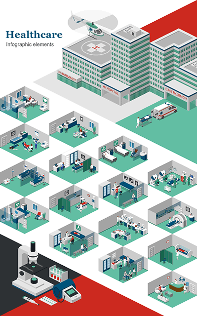 Healthcare Infographic Elements