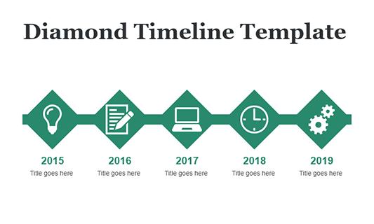 Diamond Timeline Template
