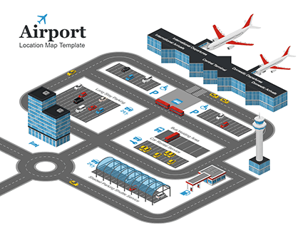 Airport Location Map