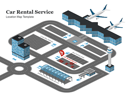 Car Rental Service Location Map