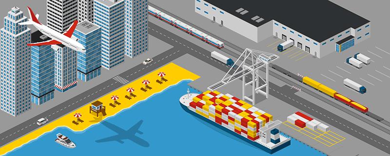 Urban Logistics Illustration