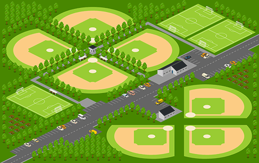 Wagon Wheel Baseball Field